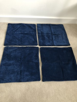 4x Navy Blue Cushion Covers