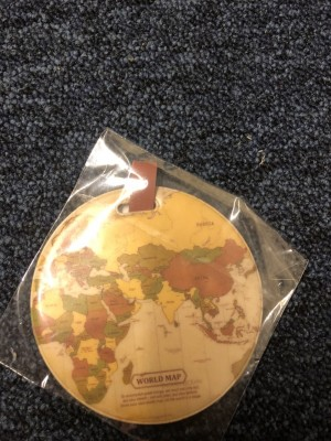Portable travel accessories baggage holder suitcase label world map bo