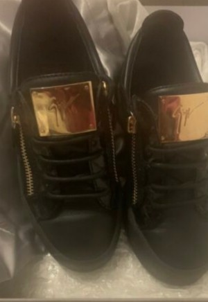 giuseppe womens black and gold Shoes (4)