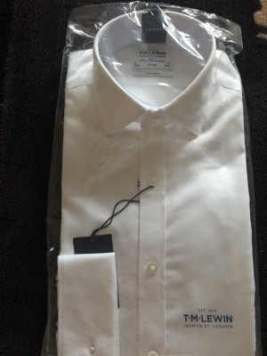 TM Lewin white shirt fitted 15/33