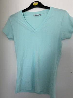 Ladies light blueish M&Co T-shirt size S