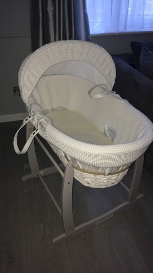 NEW MOSES BASKET !  , my son didn't use it as he wouldn't settle in it so had to get a cot , want 40 for it ?