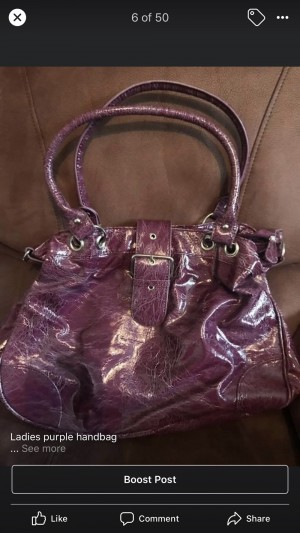 Ladies purple handbag great condition