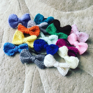 knitted hair bands