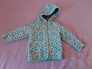 Blue floral Next age 2-3 coat