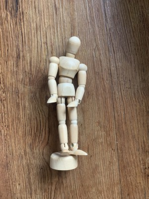 Small wooden statue