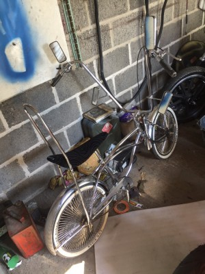 Chrome Low rider bicycle