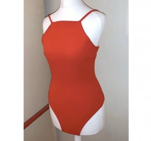Red missguided thong bodysuit size 4