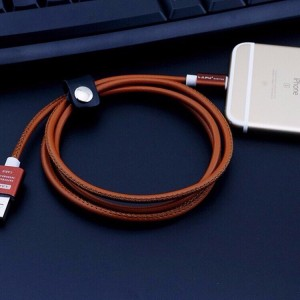 Apple iPhone Nylon Braided Leather Strap Charger Cable