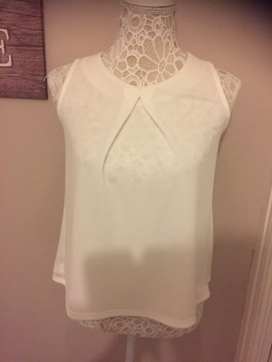 Cream lace top size 8 worn once from atmosphere