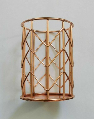 Rose gold colour pencil pot