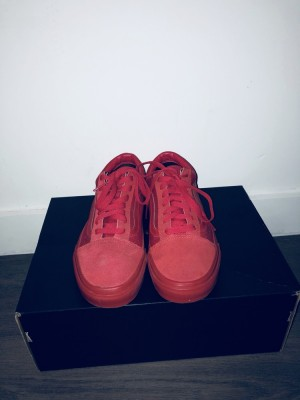 All Red Old School Vans