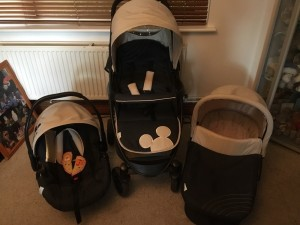 Mickey Mouse 3in1 travel system