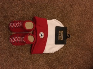 baby converse hat and sock srt
