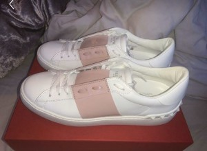 Valentino Pink and White Trainers
