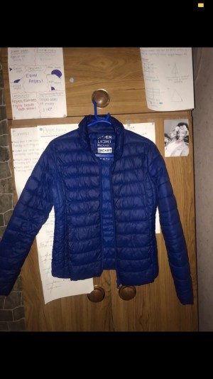 Blue Puffer Coat/Jacket. Size XS