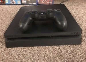 Play station 4 slim with 1 controller