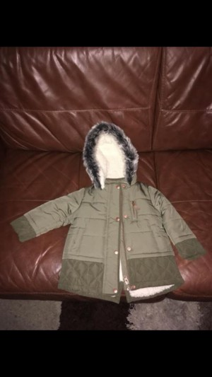 Girls parka coat 12-18 months excellent condition