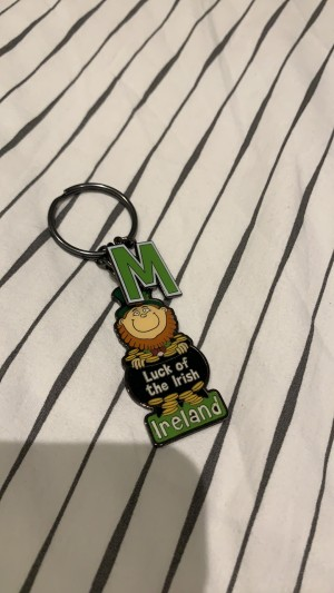 """M"" good luck key ring"