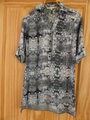 NEXT Grey Long Tunic/Shirt Top - Size 6 (would also suit size 8)