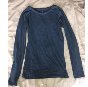 primark teal blue long sleeve top size xs 6 8