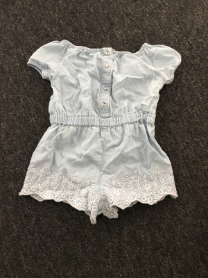 Girls denim playsuit. Size 6-9 months
