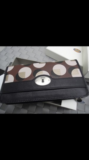 New Brown Fossil Purse