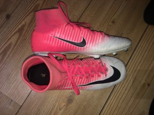 Pink nike mercurial football boots
