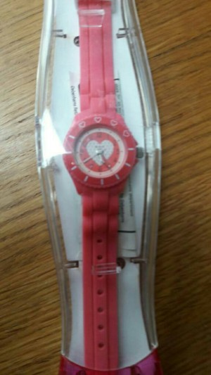 Girls Tikkers pink watch