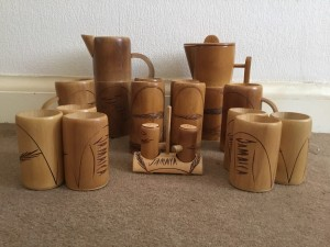 Bamboo drinking set