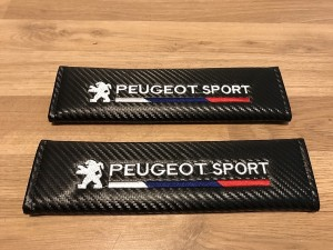 2X Seat Belt Pads Carbon Gifts Peugeot Sport 107 108 206 207 208 308 R