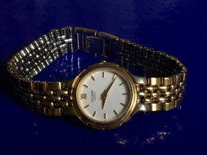 Ladies Jewellery 9ct Rolled Gold Pulsar Quartz Analog 12 Hour Watch