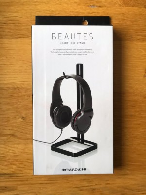 YAMAZAKI home Bautes Square Headphone Stand, Black
