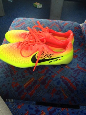 match worn qpr players boots given personally size 8