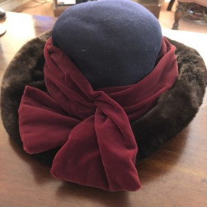 Rada Accessori Italy 100% Wool Vintage Faux Fur Brim Autumn Hat