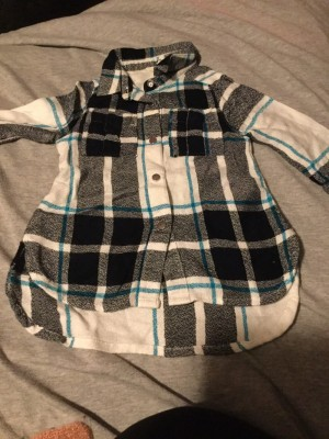 Baby Boys Long Sleeved Check Dress Shirt - Aged 3-6 Months
