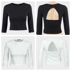 Black or White cut out back top