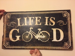 wooden life is good wall frame