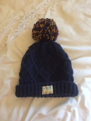 Hymn Navy Beanie One Size Fits All Fantastic Condition