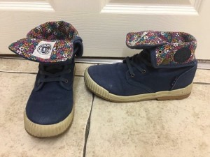 NEXT girls navy floral canvas boots size 2