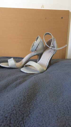Next silver glittery sandals BRAND NEW size 6
