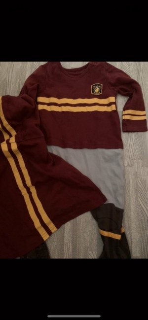 Harry Potter quidditch outfit romper baby grow 9-12