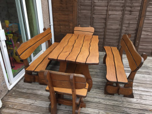 Solid Oak garden furniture set