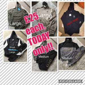 Tracksuits, trainers, jeans, socks & boxers and much more.