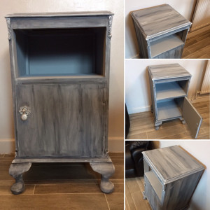 Upcycled Handpainted Bedside Cabinet