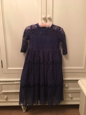 Blue dress children's size 12