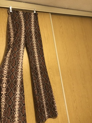 Pull & bear flares snake print flares size small