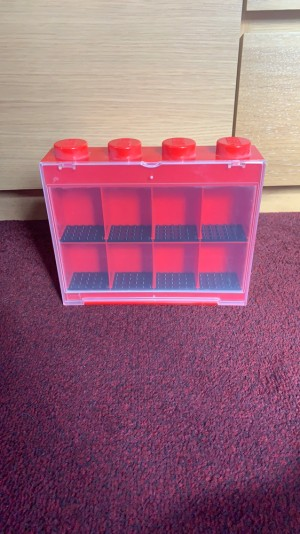 Lego Minifigure display case - red (Delivery only)