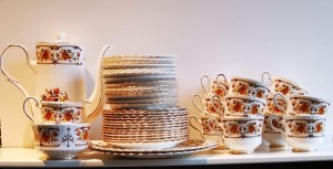 Vintage, Royal Stafford, Clovelly, Bone China, Tea/Coffee, Brown/Gold