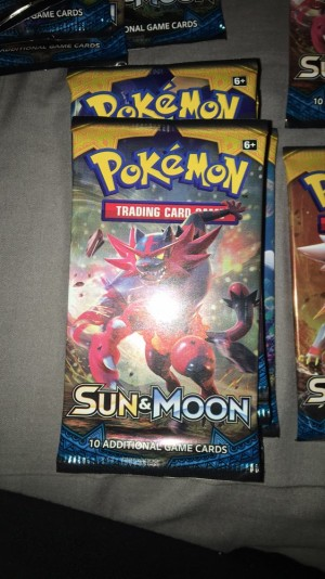pokemon sun&moon booster pack 10 cards